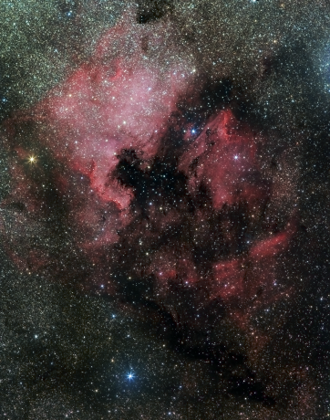 ©The North American & Pelican Nebula. Photograph by Richard S. Wright, Jr. 2014