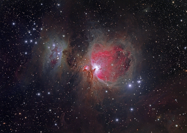THE GREAT ORION NEBULA (and Running Man to the Left). Photography by Richard Wright, Jr.