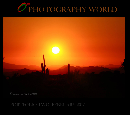 PORTFOLIO TWO, February 2015 is Awarded to American Photographer Linda Covey. Arizona Sunset 2014. PHOTOGRAPHY WORLD .ORG