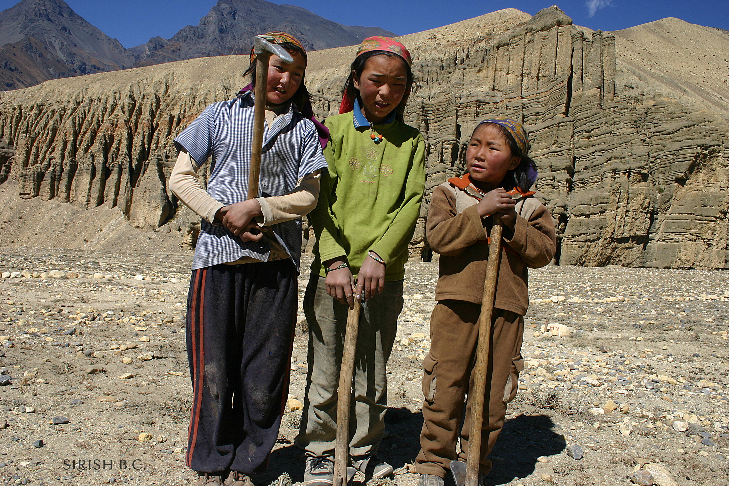 ©The Fuel Collectors. Photograph by Sirish B.C. in Upper Mustang, Nepal @ https://photographyworld.org/travel/the-himalayas-sagarmatha-mount-everest/