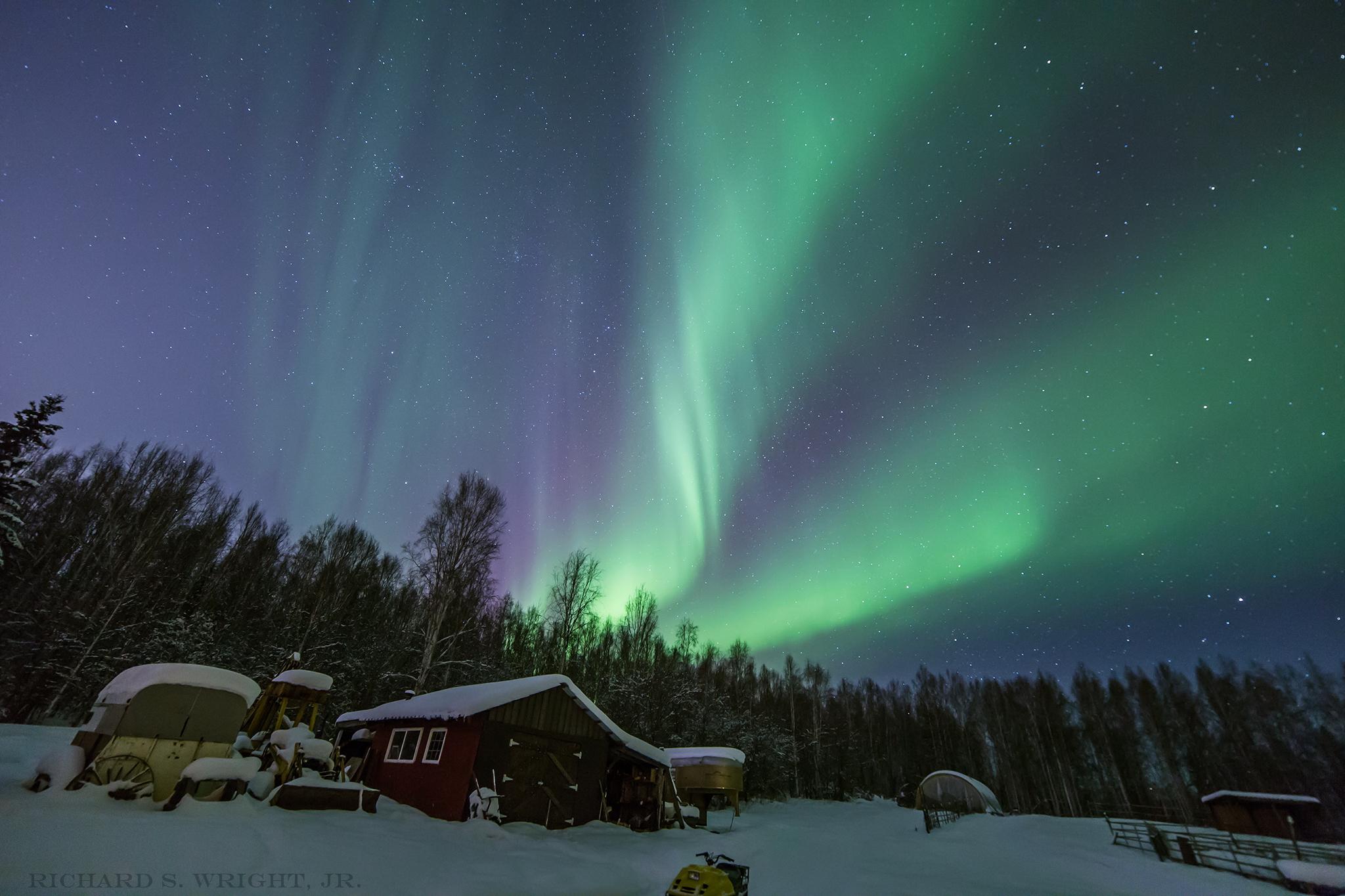 © Aurora Borealis. Photograph by Richard S. Wright, Jr. Fairbanks, Alaska 2015
