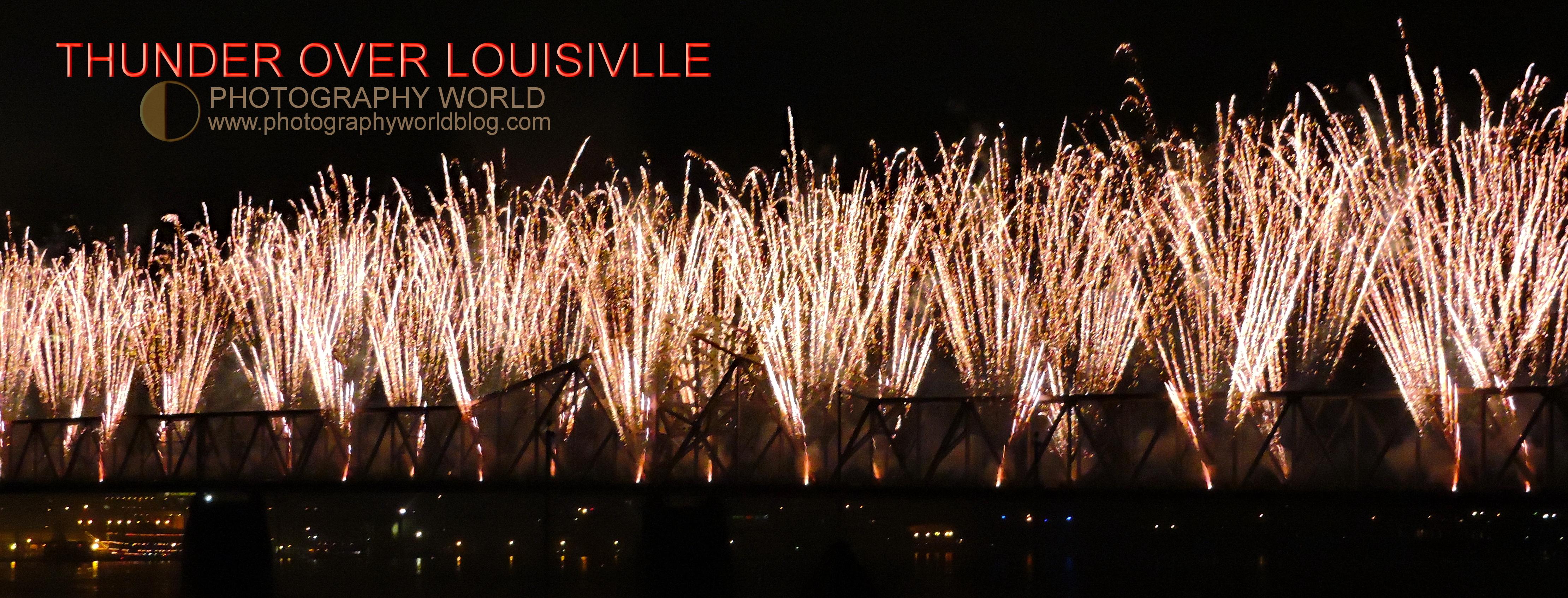 © THUNDER OVER LOUISVILLE. Fireworks off the second street bridge. Photograph by Mina Thevenin @photographyworld.org