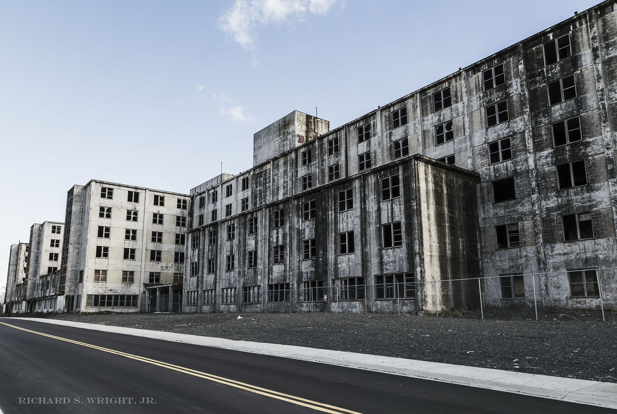 Abandoned Apartments in Whittier, Alaska. Photograph by Richard S. Wright, Jr. 2015