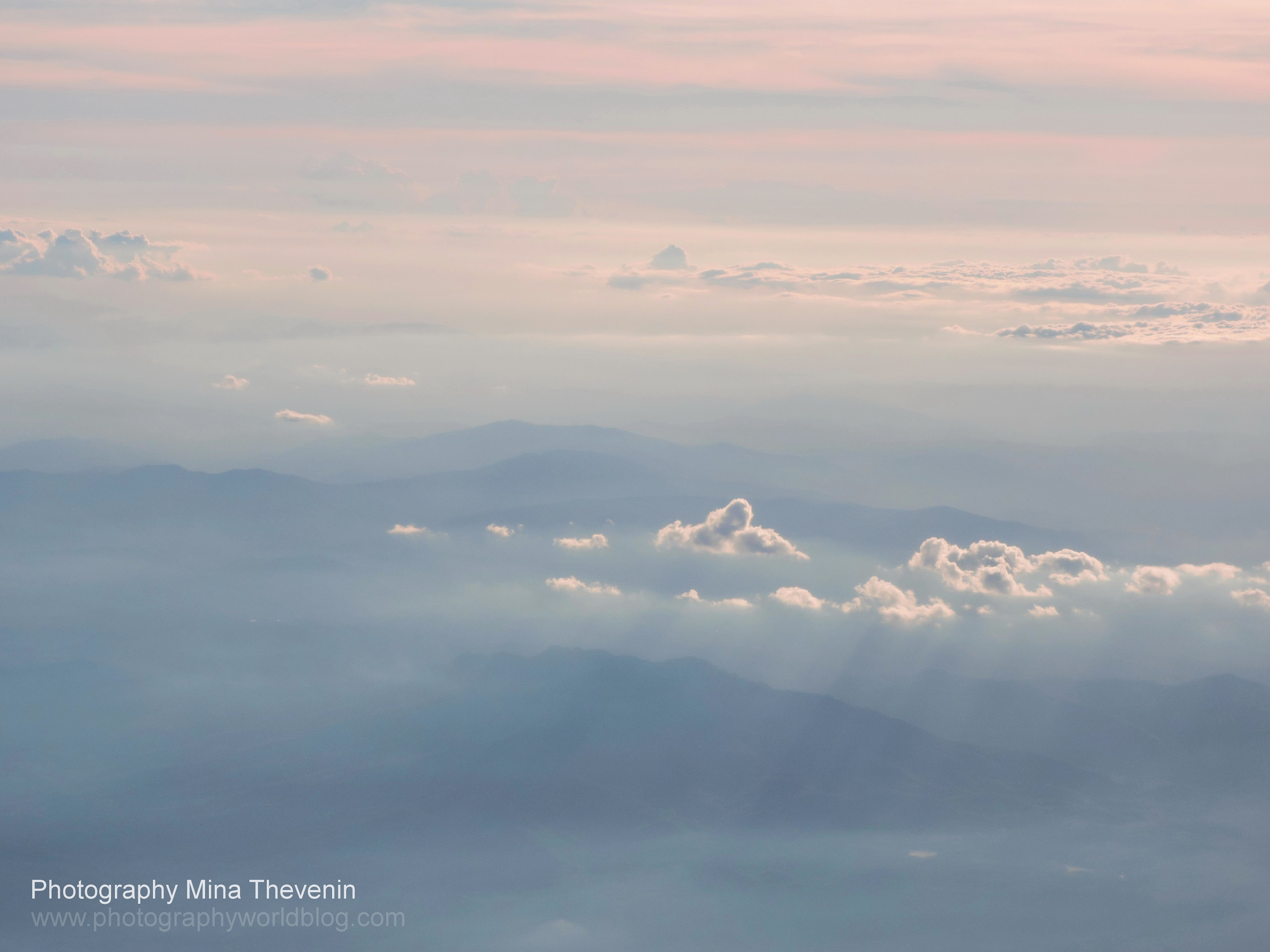 © Appalachian Mountain Range in Sunset Clouds. Photograph by Mina Thevenin. Photography World Online Publication. www.photographyworld.org