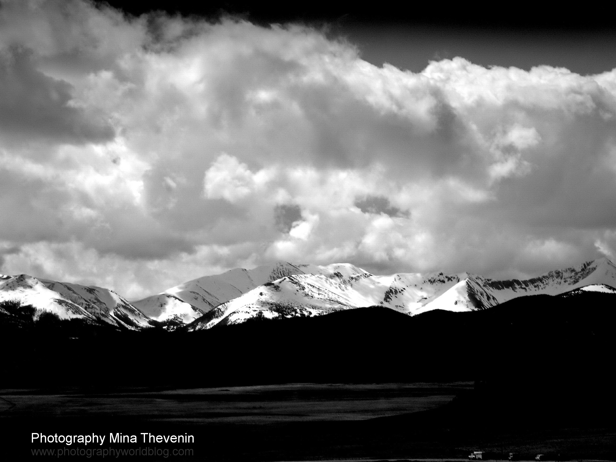 © Clouds & Spring. Colorado Rockies. Photograph by Mina Thevenin