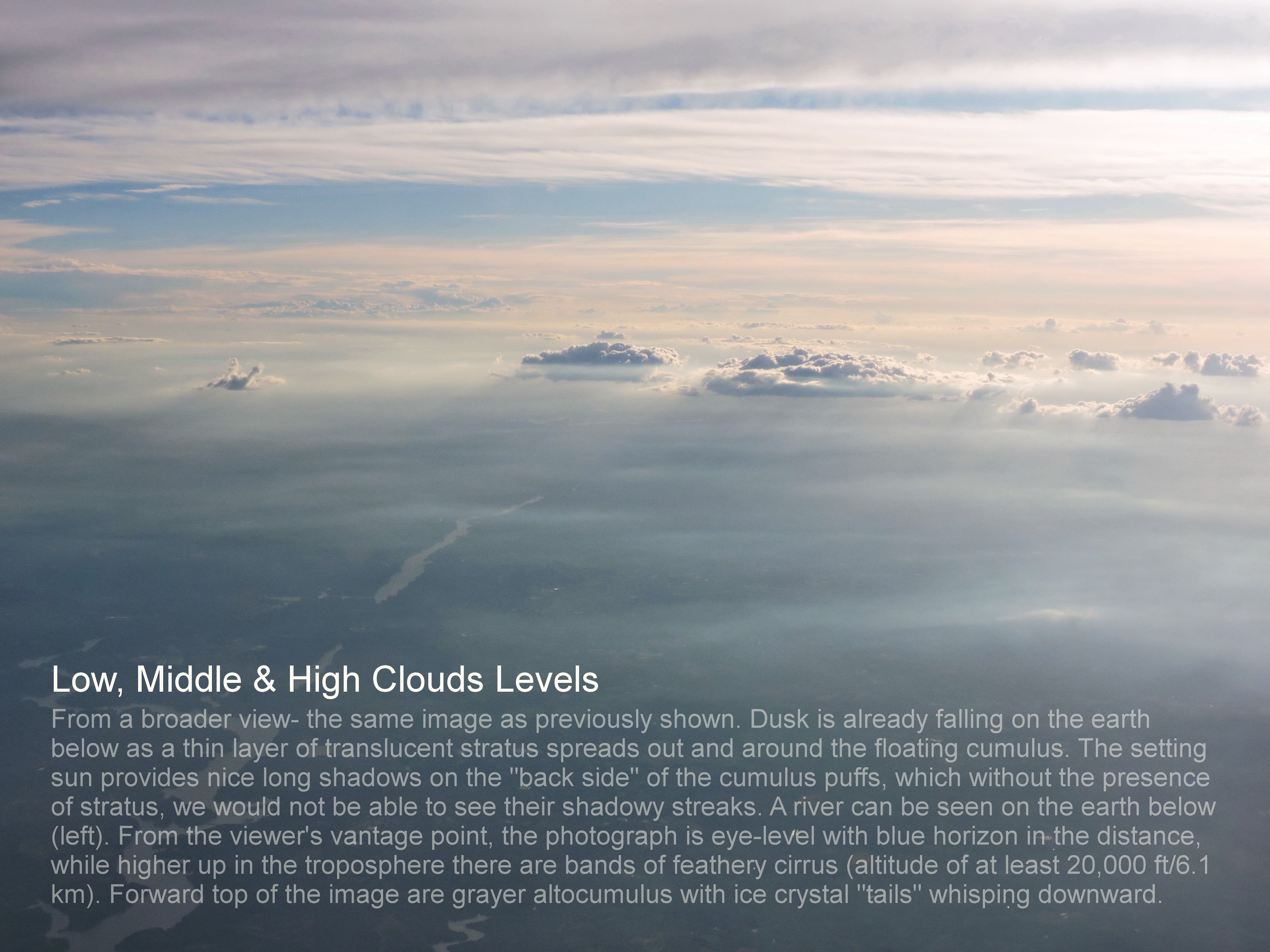 © Low Middle & High Clouds levels. Photography World, www.photographyworld.org
