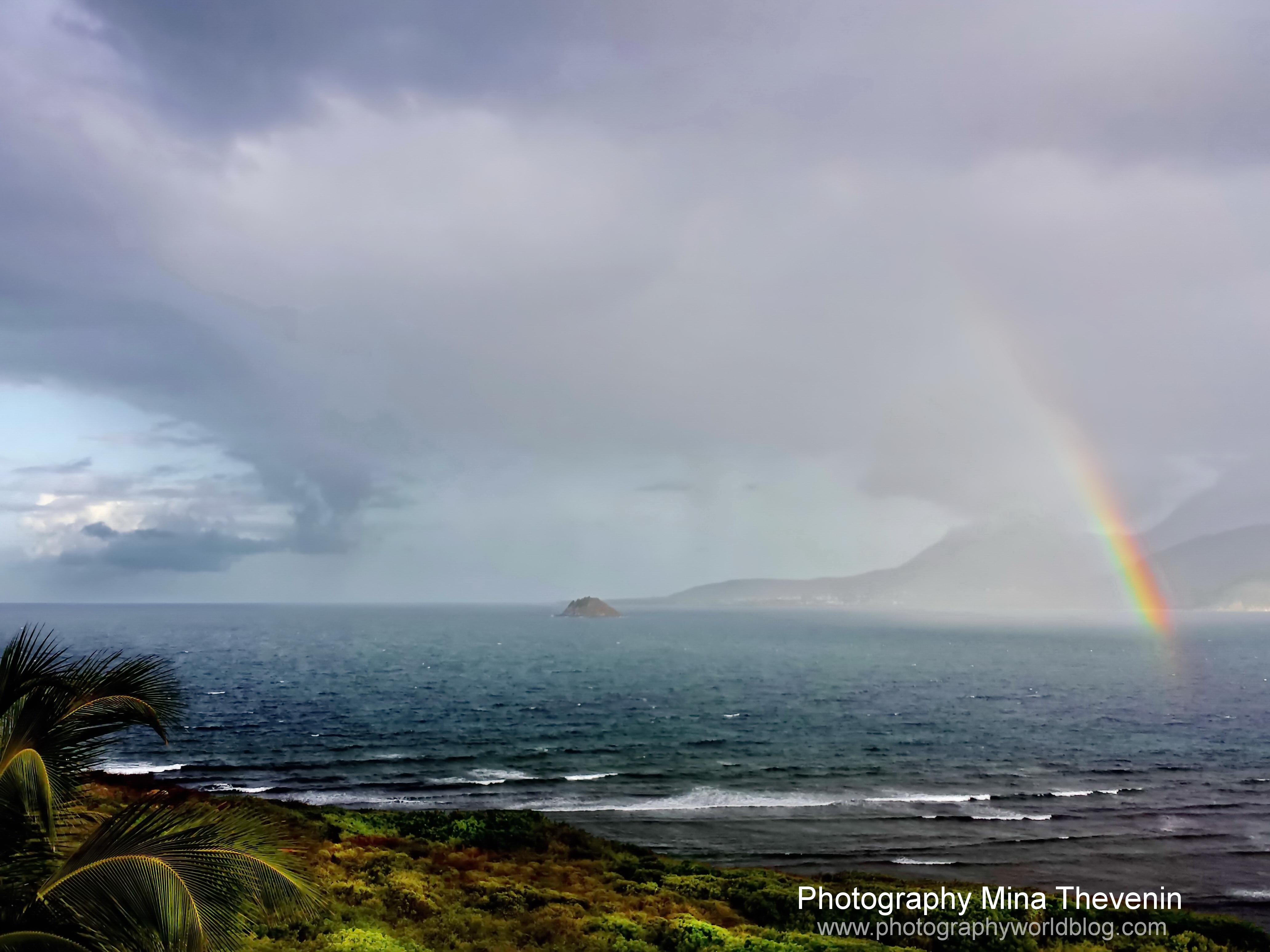 © Nevis Rainbow. Caribbean. Photograph by Mina Thevenin. Photography World. www.photographyworld.org