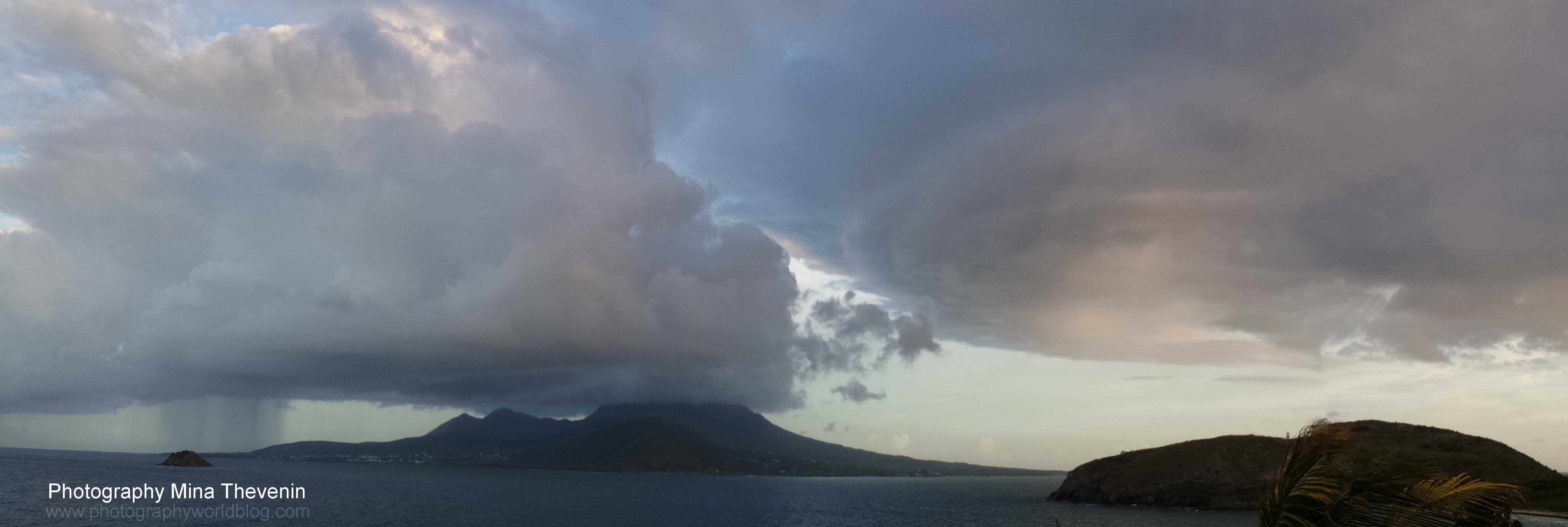 © Sunset Super Cells Collide. Nevis Island. Photographer Mina Thevenin