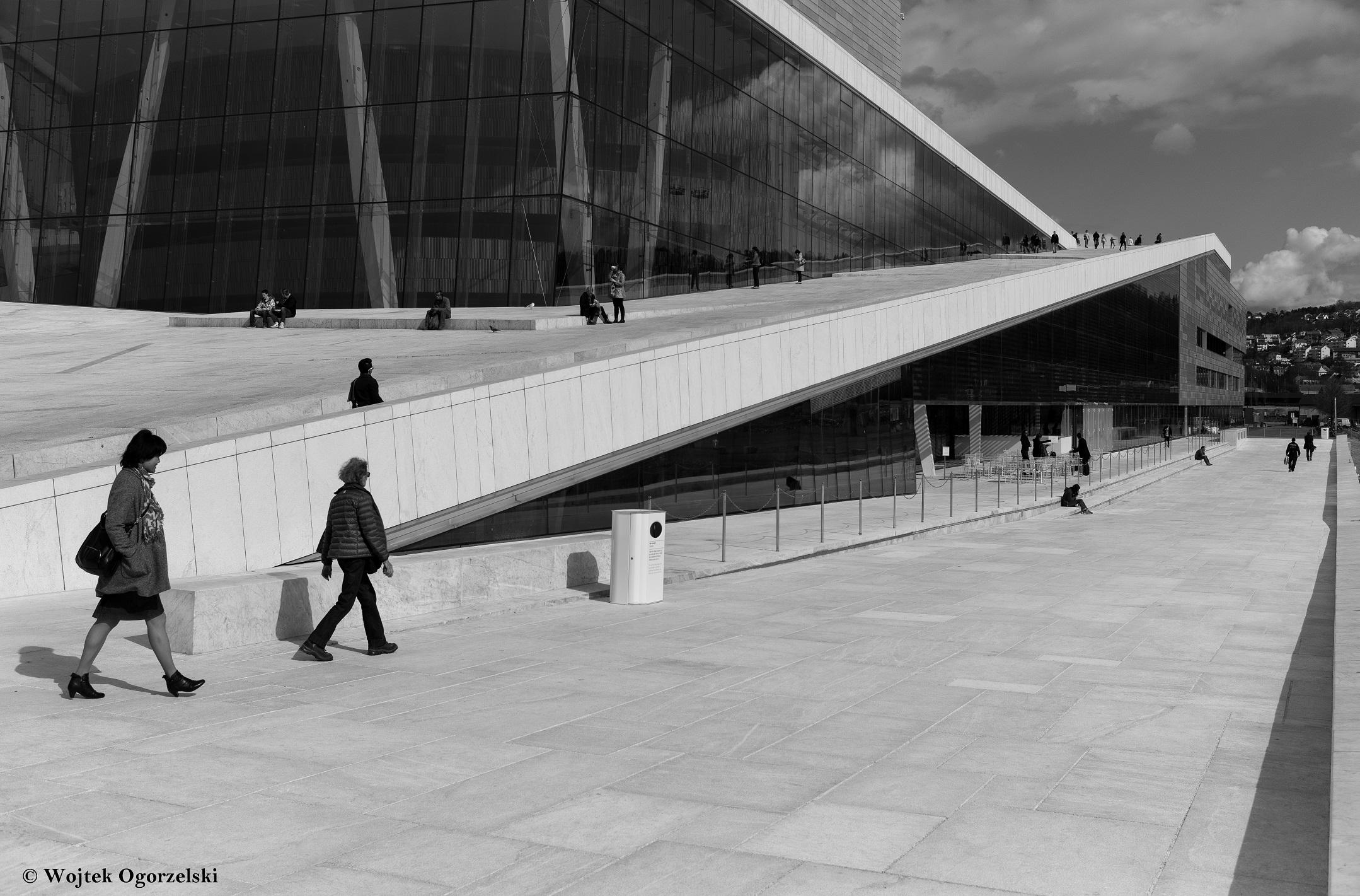 """© Oslo, Norway Opera House. Black & White. Photographer Wojtek Ogorzelski. Photography World article, """"ORGANIC ARCHITECTURE: European Photographer Wojtek Ogorzelski- Norway, Poland & Portugal"""" photographyworld.org"""
