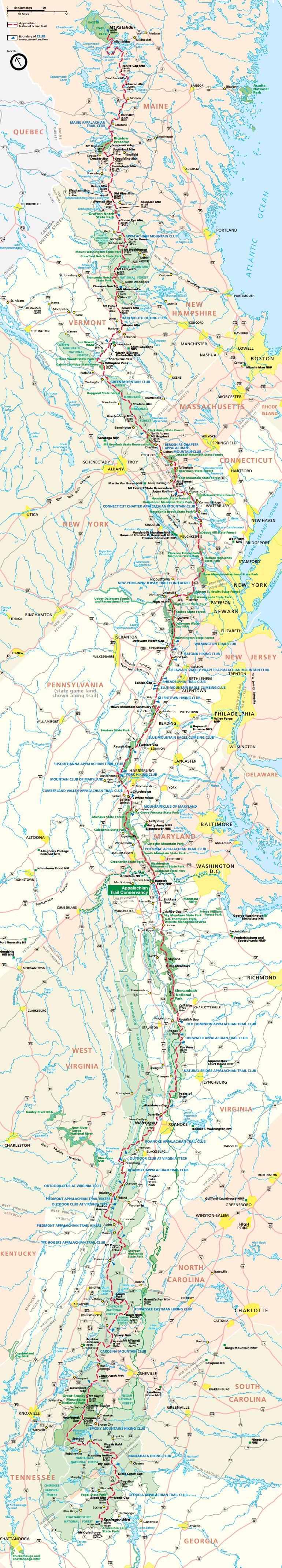 Official NPA Appalachian Trail Strip Map