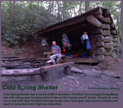 """© Cold Spring Shelter camp. A.T. Photography World article: """"APPALACHIAN TRAIL