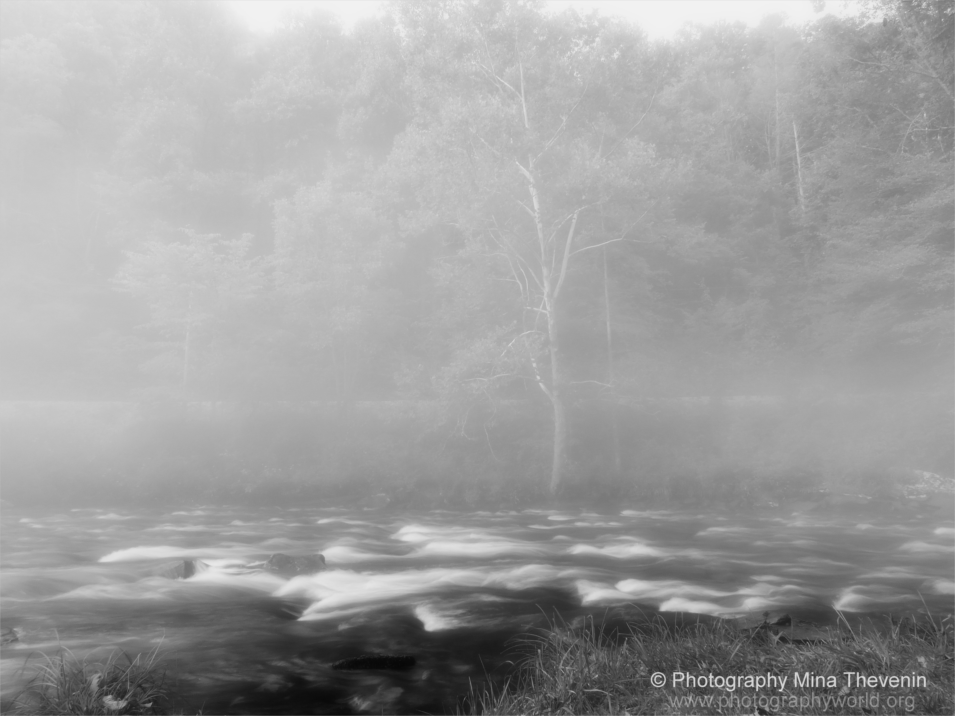 "© Nantahala River. B&W Photography Mina Thevenin. Photography World article: ""APPALACHIAN TRAIL|Take a Walk on the Wild Side|Nantahala|Tellico Gap to Wayah Bald"" photographyworld.org"