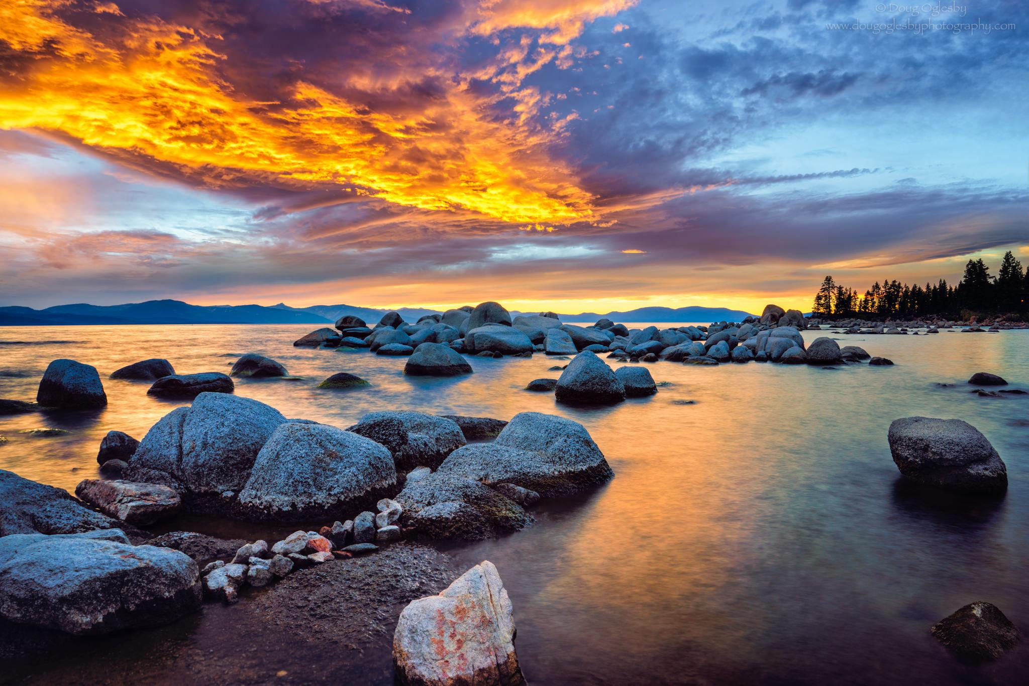 © Golden Zephyr Cove. Lake Tahoe, Nevada. Photograph by Doug Oglesby. photo@dougoglesby.com A PHOTOGRAPHY WORLD Article, Beautiful Lake Tahoe @photographyworld.org