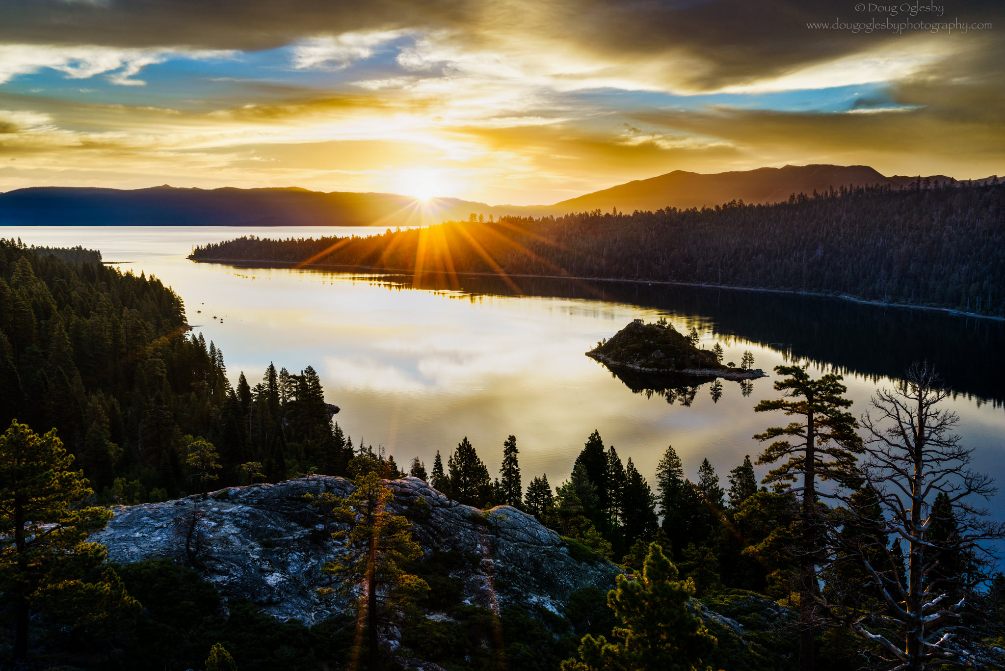 © Sunburst Emerald Bay. Lake Tahoe. Photograph by Doug Oglesby.photo@dougoglesby.com. A PHOTOGRAPHY WORLD Article, Beautiful Lake Tahoe, @ photographyworld.org