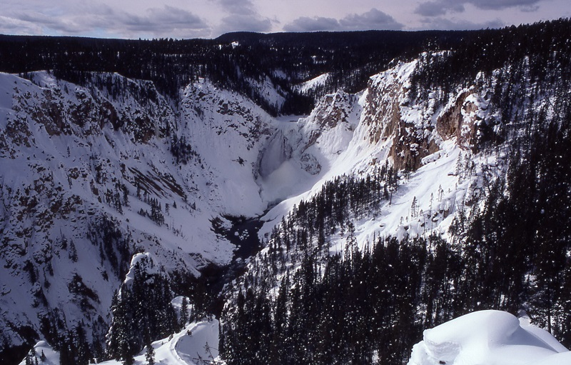 Artist Point's Lower Falls. The Yellowstone's Grand Canyon. NPS Photographer F Hirschman. 1978
