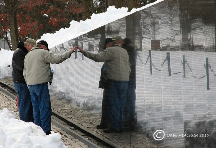 © Checking the Names on the Wall. Photographer Dave Meachum for Photography World Contest 2015 Entry PEOPLE, HONORABLE MENTION