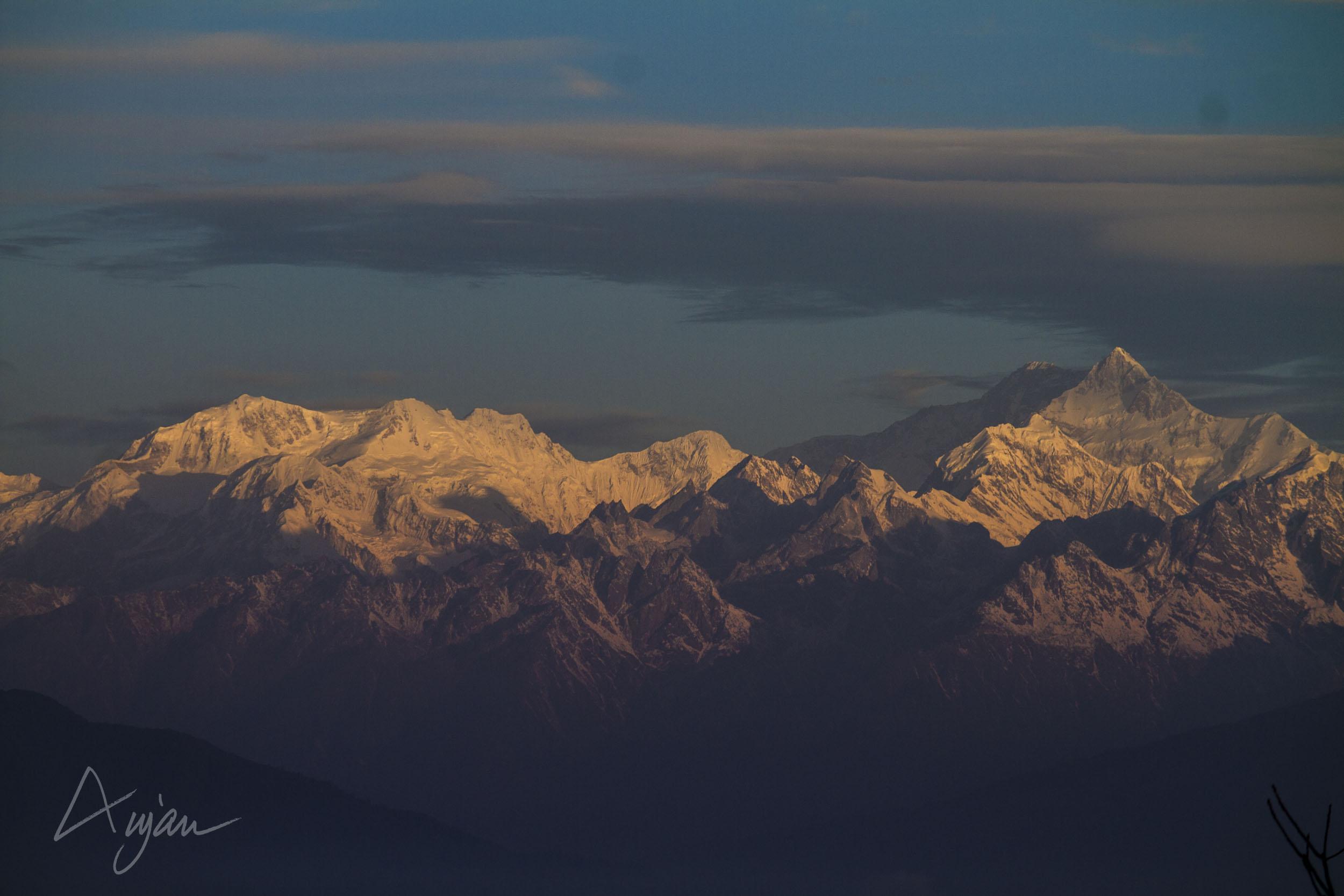 Himalayas at Sunset. Copyright image by Anjan Ghosh