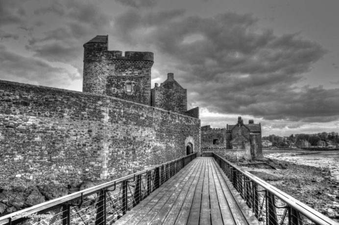 © Blackness Castle, Scotland. Photographer Christa Hathaway GOLD AWARD recipient for the BLACK & WHITE Photography World Contest @ https://photographyworld.org/contests/photography-winners-2016/