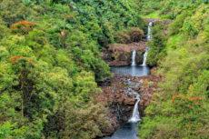Umauma Falls on the Big Island of Hawai'i. Copyright image for Early Hawai'i History by Photographer Doug Oglesby @ https://photographyworld.org/nature/early-hawaii-history/